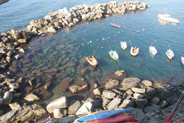 Here is where we boarded the first ferry to go along the coastline (no, not those boats!) , Gerard G - October 2014