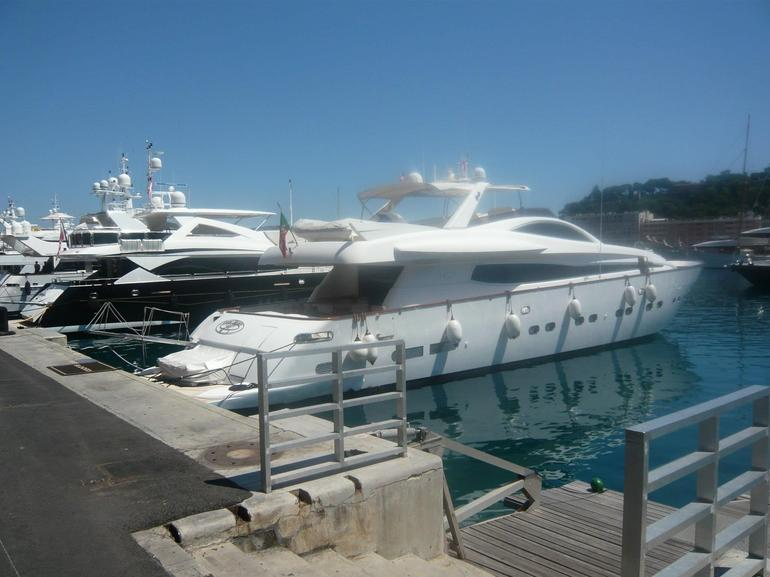 Massive yachts in Port Hercules, Monaco