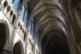 The cathedral in Reims is beautiful and majestic. , Christopher R - September 2011
