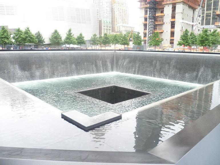 9/11 water feature - Brooklyn