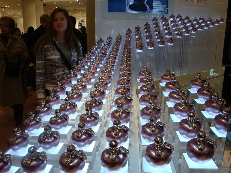 A perfume display in Le Galerie Lafayette - Paris