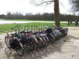 We parked our bikes along the canal before our picnic lunch , Nancy B - April 2015
