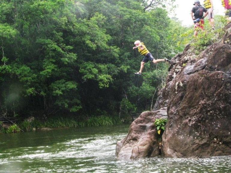 Jumping, white water rafting trip, Tully River - Cairns & the Tropical North