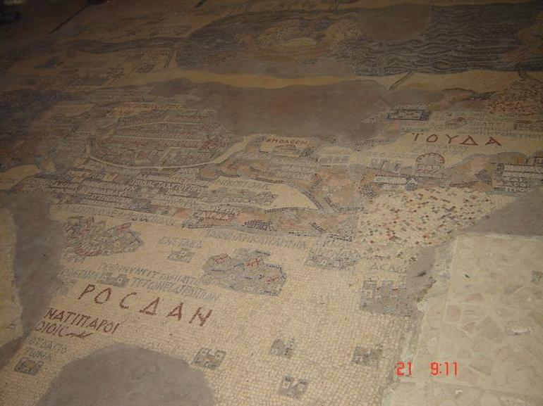 The Mosaic Map is situated in the Church of St George in Madaba.The map was created around 6th century CE and discovered in 1896.