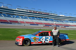 Photo of   Rocky at the Las Vegas Motor Speedway