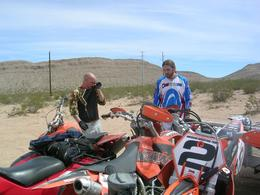 Photo of Las Vegas Hidden Valley and Primm Extreme Dirt Bike Tour Seth and Kyle.