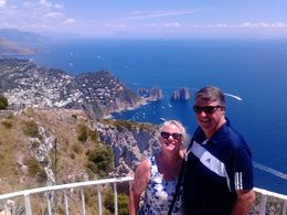 Mike and Marie at one of the breathtaking viewpoints at the top of the Capri chairlift. We are wishing we were back there right now. , Marie M - July 2015