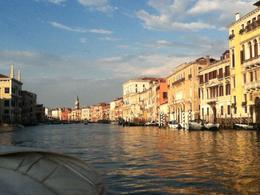 View from the water taxi while going up the canal , Gloria E - June 2014