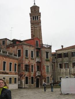 A leaning bell tower in Venice seen on our walking tour., Diane G - October 2010