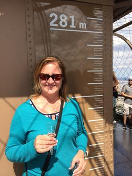 Having a glass of champagne at the top of the Eiffel Tower! , Gary P D - June 2014