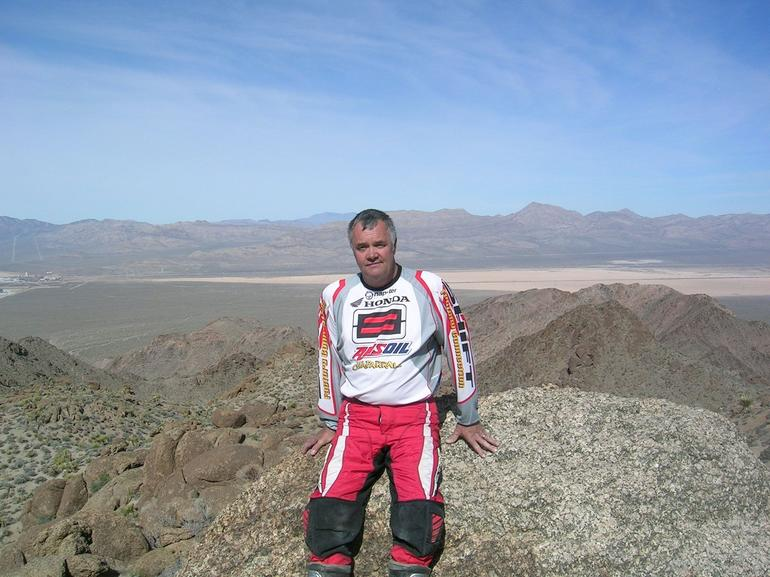 Brian having break. Scenery stunning. - Las Vegas