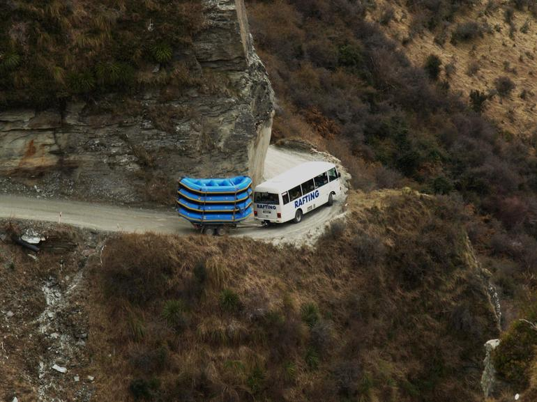 Buses and Hairpin Bends at Skippers Canyon - Queenstown