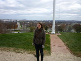 Me in front of Robert E Lee's house with DC in the background, Irene - November 2012