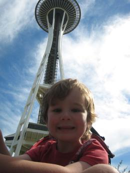 Enjoying the Space Needle., Skootre - October 2010