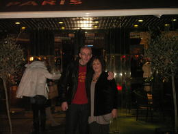 Outside the famour Hard Rock Cafe in Paris , David M - February 2011