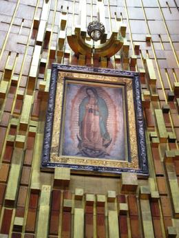 the original cloth where the virgin of guadalupe appeared. , Carol P - March 2012
