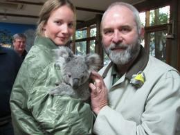 Photo of Sydney Blue Mountains Deluxe Small Group Eco Tour from Sydney Petting a Koala
