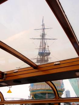 View from our boat of one of tall ships moored in the harbor, Bonnie B - September 2010