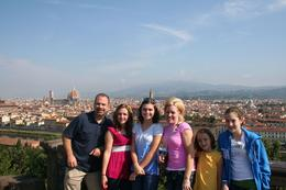 A view of Florence from a perfect spot that our private tour guide took us to, John G - July 2009