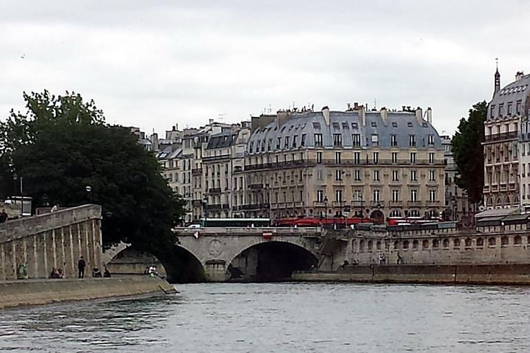View from cruise - Paris