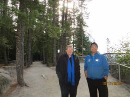 Our guide Jason in a blue jacket , Ligia T - October 2012