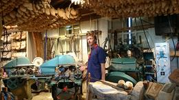 Visited the (klompenschoen) wooden clog shoemaker's workshop, which includes access to a gift shop of many tourist-focused products. , DKMashino - April 2014
