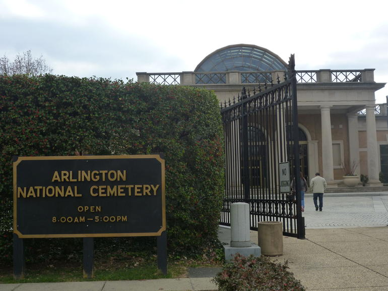 Entrance to Arlington Cemetery - Washington DC