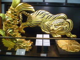 An exhibit inside Osaka Castle museum. , Oksana P - June 2015