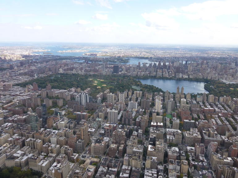 Photo of the top part of Central Park and Jackie Kennedy Onassis Reservoir.