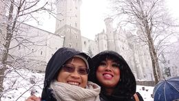 Visiting Neuschwanstein, snowing and freezing but so beautiful. , Sasiwimon B - April 2016