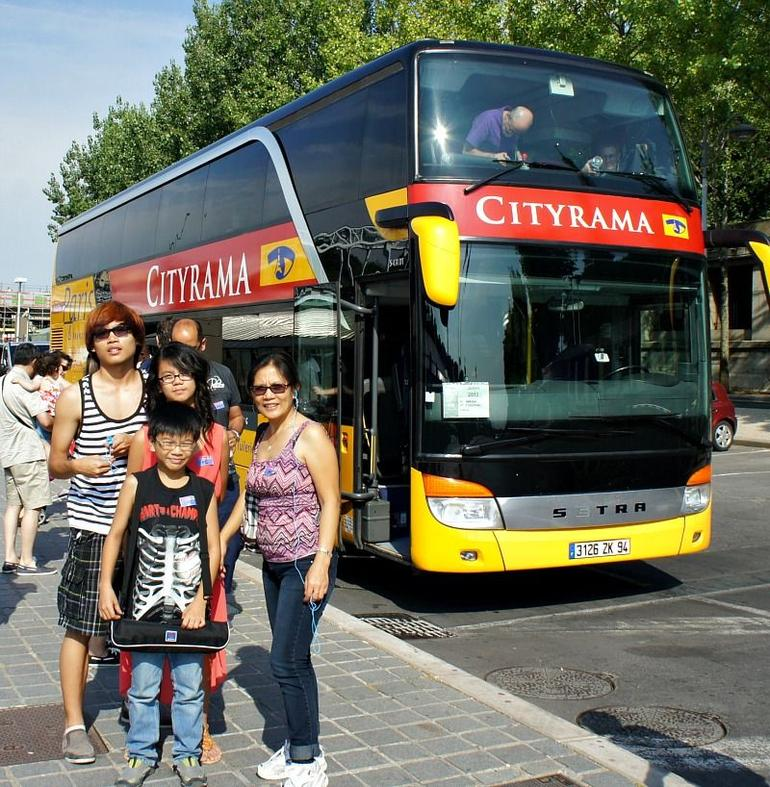My Family after Cityrama guided tour. - Paris