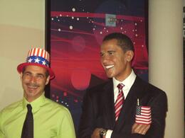My friend Robert with Obama - October 2009