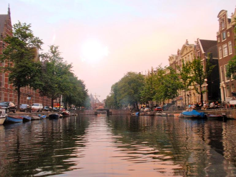 Sun set on the canals - Amsterdam