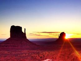 Photo of Las Vegas 7-Day National Parks Camping Tour: Zion, Bryce Canyon, Monument Valley and Grand Canyon South Rim sunrise at Monument Valley