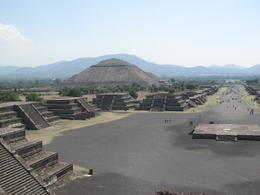 Photo of Mexico City Teotihuacan Pyramids and Shrine of Guadalupe Temple of the sun behind