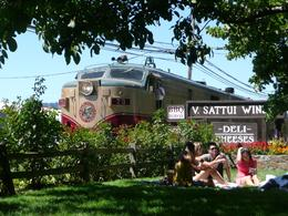 "Having a picnic at the V. Sattu Winery. This is the ""Wine Train"" rolling by. - September 2009"