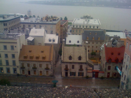 A view from the fortress looking down on Vieux Quebec., kellythepea - October 2010