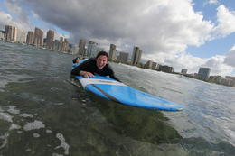 Photo of Oahu Oahu Surf Lessons: Class and Equipment at Ala Moana Beach with Round-Trip Transport Wahey!