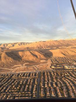 We had great views of Red Rock Conservation Area and the mountains around Vegas as well as the Strip. , Gordon B - December 2015