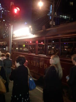 Photo of Melbourne Colonial Tramcar Restaurant Tour of Melbourne before i boarded the tam near crown casino
