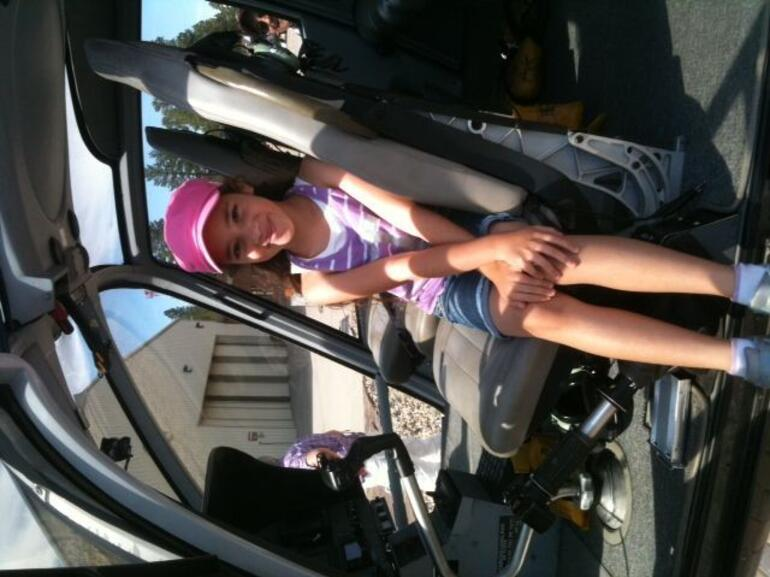 Bella in the helicopter - Las Vegas