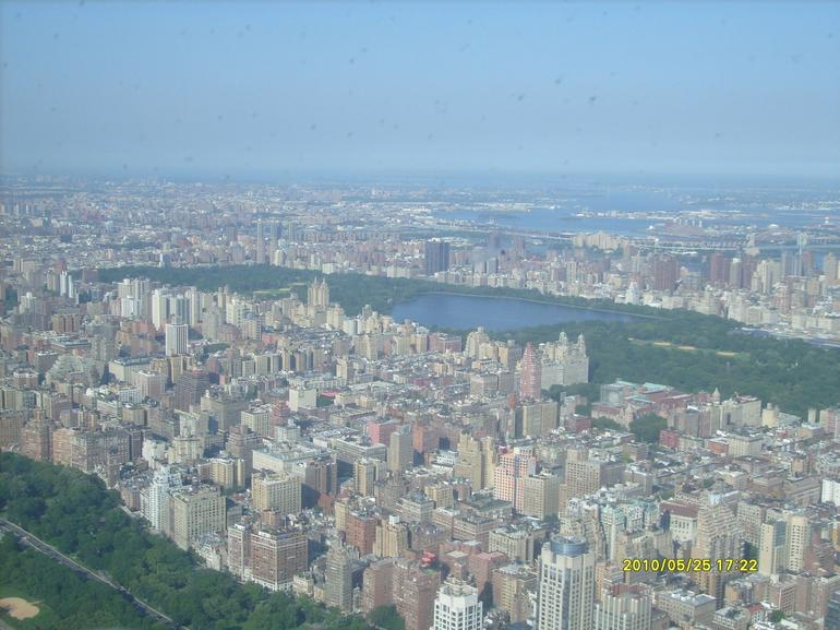 Central Park from above Hudson River - New York City