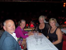 Our Australian friends and us (Linda and Lynn) waiting for the show to begin. , Linda H - June 2014