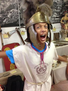 12 year old loving Gladiator School , Rebecca Summers S - July 2014