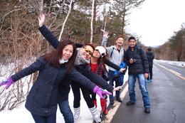 Photo of Tokyo Mt Fuji, Yamanakako Onsen Experience and Outlets Shopping Day Trip From Tokyo Group Photo at 1st Station