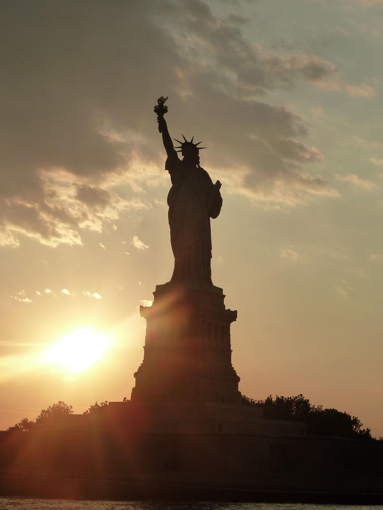 Liberty at Sunset - New York City