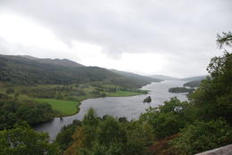 The and quot;Queens View and quot; overlooking Loch Tummel and the Glencoe Mtns , Judith M - September 2011