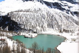 Photo of Milan Swiss Alps Bernina Express Rail Tour from Milan Mountain lake