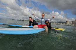 Photo of Oahu Oahu Surf Lessons: Class and Equipment at Ala Moana Beach with Round-Trip Transport Relaxing with Jessica