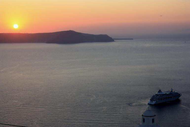 Sunset over Santorini -